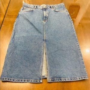 Zara jeans skirt size XL